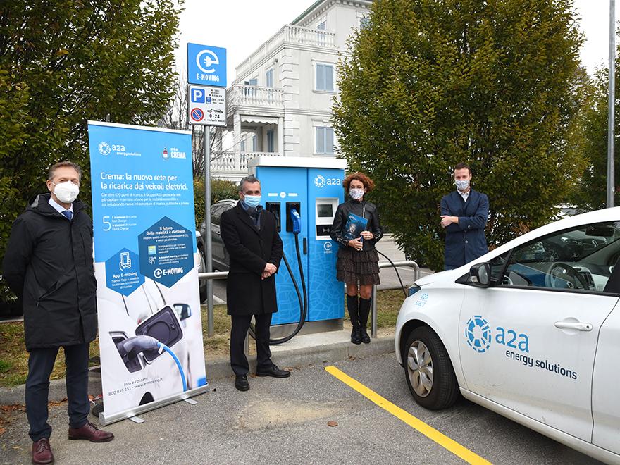 Crema green: inaugurata la nuova rete di ricarica per veicoli elettrici